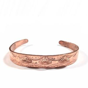 Vintage Rustic Southwestern Copper Cuff Bracelet